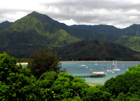 View of Hanalei From Pu'u Poa