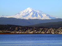 Mount Baker Looming Over Bellingham