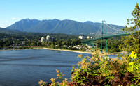 View of Burrard Inlet and Lions Gate Bridge