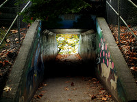Colorful Railroad Underpass